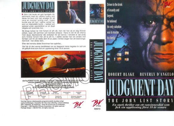 JUDGMENT DAY-THE JOHN LIST STORY