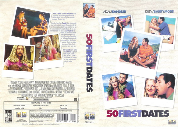 50 FIRST DATES (VHS)