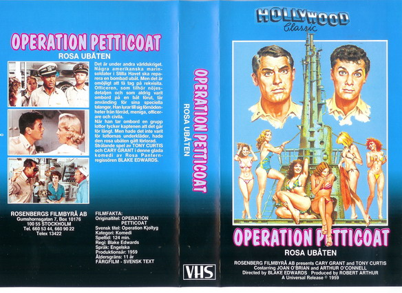 ROSA UBÅT-OPERATION PRETTICOAT (VHS)