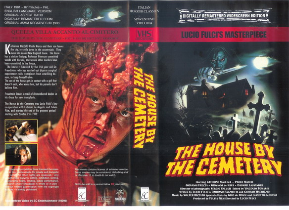HOUSE BY THE CEMETERY-ec (VHS)