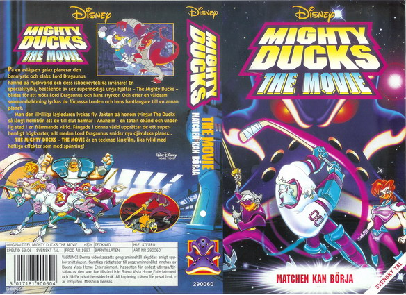 MIGHTY DUCKS THE MOVIE (VHS)