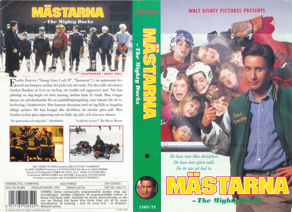 MIGHTY DUCKS-MÄSTARNA 1 (VHS)