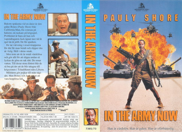 IN THE ARMY NOW (VHS)