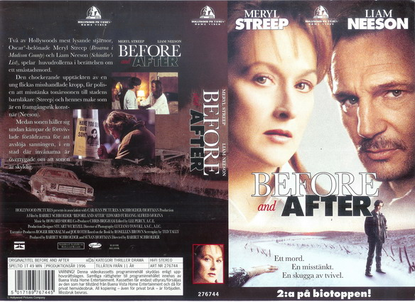BEFORE AND AFTER (VHS)