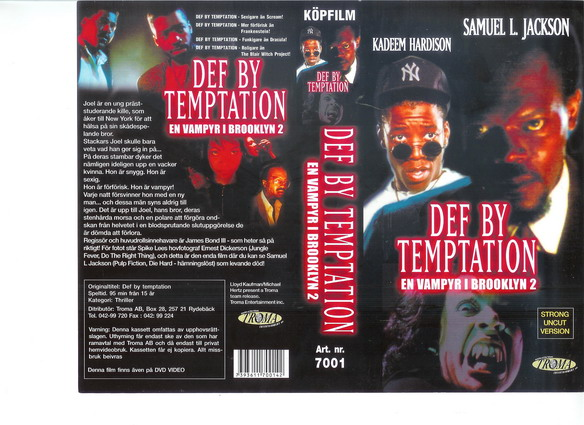Def by temptation  (VHS)