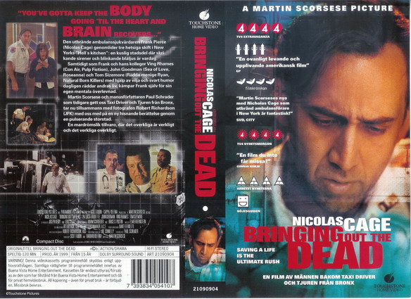 BRINGING OUT THE DEAD (VHS)