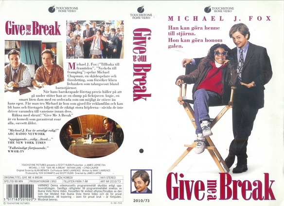2010/73 GIVE ME A BREAK (VHS)