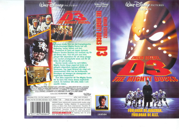 MÄSTARNA 3-MIGHTY DUCKS 3 (VHS) Ny