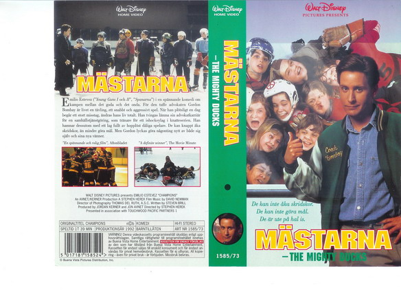 MÄSTARNA - MIGHTY DUCKS (vhs)