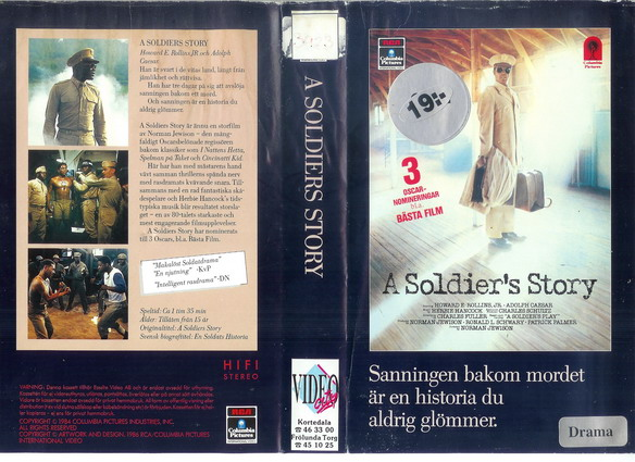 A SOLDIER'S STORY (VHS)