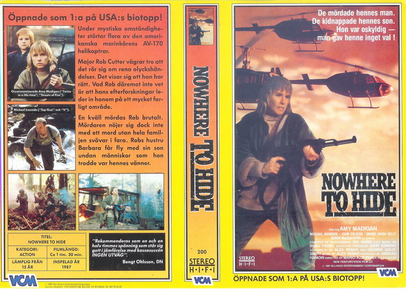 200 NOWHERE TO HIDE (VHS)