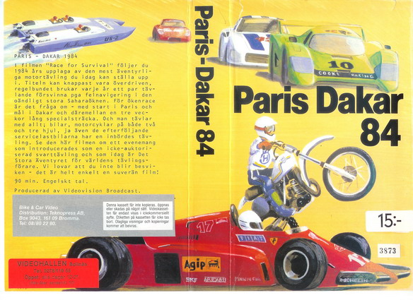 PARIS DAKAR 84
