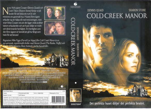 20927004 COLD CREEK MANOR (VHS)