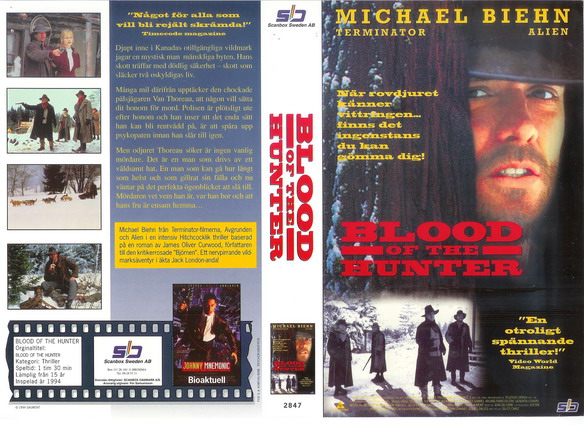 2847 BLOOD OF THE HUNTER (VHS)
