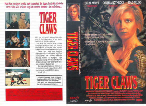 TIGER CLAWS (VHS)