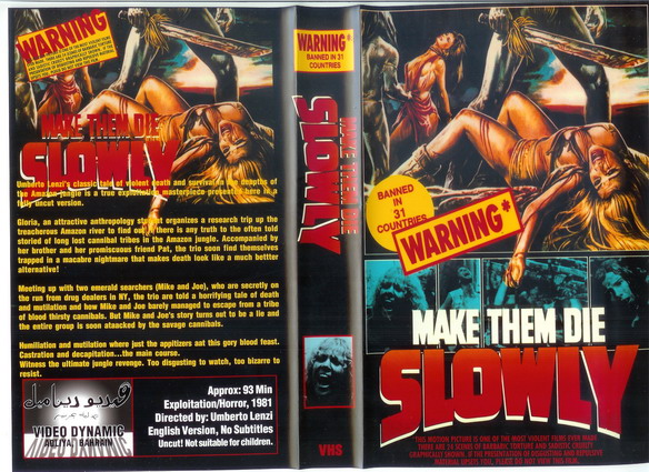 MAKE THE DIE SLOWLY (VHS) BAH