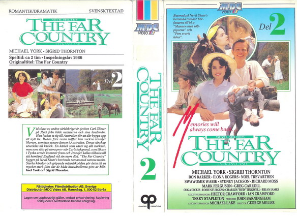 FAR COUNTRY DEL 2  (VHS)