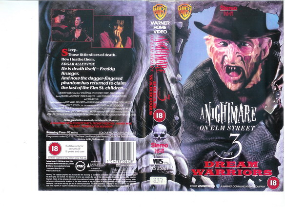 A NIGHTMARE ON ELMSTREET 3-UK (VHS)