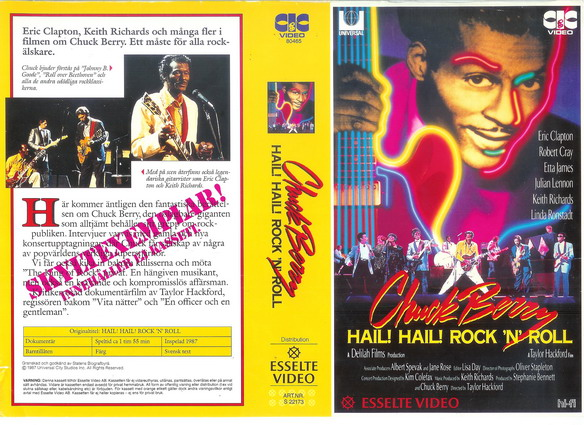 CHUCK BERRY - HAIL HAIL ROCK N' ROLL (VHS)