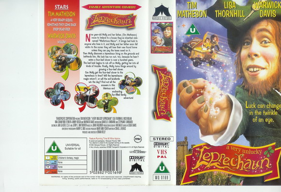 A VERY UNLUCKY LEPRECHAUN -UK (VHS)