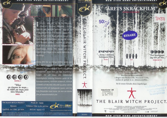 BLAIR WITCH PROJEKT (VHS)