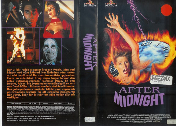 AFTER MIDNIGHT (vhs)