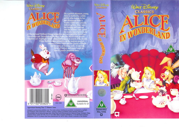 ALICIE IN WONDERLAND - UK (VHS)