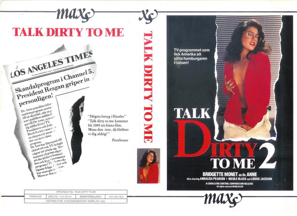 1903 TALK DIRTY TO ME 2 (VHS)