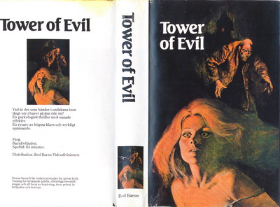 TOWER OF EVIL (VHS)  KOPIERAT OMSLAG